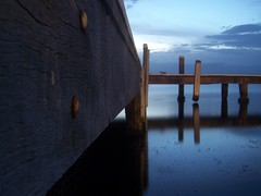 Bolts (pominoz) Tags: reflection newcastle pier jetty wharf nsw thumbsup lakemacquarie bigmomma belmontsouth squidsink