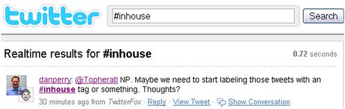 Twitter tag for in-house SEO Marketers