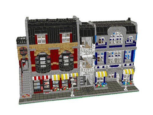 Three modular buildings