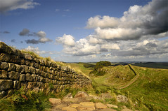 The edge of an ancient empire (Danil) Tags: greatbritain england holiday stone newcastle landscape scotland view daniel hills fortification hadrian romanempire hadrianswall engeland landschap d300 hexham vallodiadriano vallumaelium