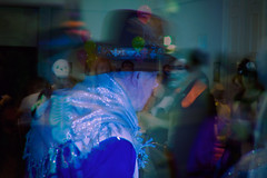 one horse town (Phil Laver) Tags: party people halloween doubleexposure fancydress oldcowboy