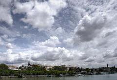 SevillaSky (Zu Sanchez) Tags: sky cloud tower rio river photo sevilla spain day photographer cloudy seville andalucia cielo andalusia giralda nube torredeloro
