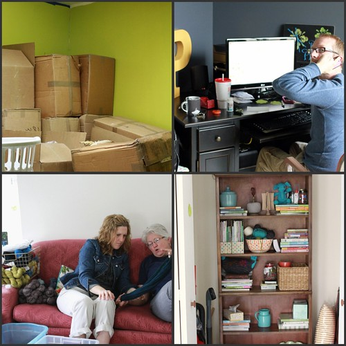 unpacking, yarn whipsering & tech support