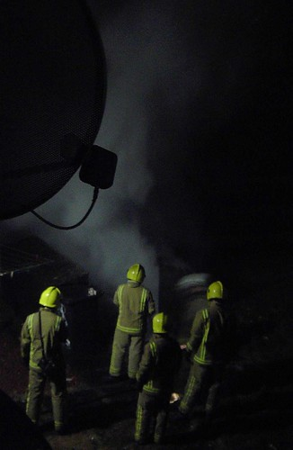 Feb 8th 2011 Another bin fire at no9 the dealers building