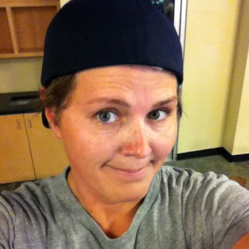 Project 365 171/365: Me, The Gym, and backwards hat = hawt mess. Day #2 of get Julie fit!