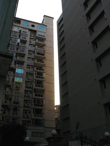 sunshine between buildings