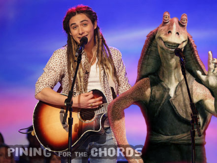 Jason Castro and Jar Jar Binks