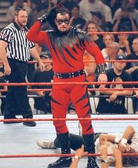 Undertaker dressed as Kane (TheBaseballGuy) Tags: cactus jack is war raw vince attitude era kane wwe wwf mcmahon mankind undertaker vincemcmahon dudelove cactusjack mickfoley