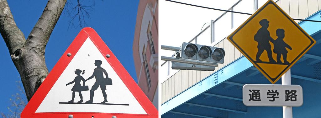 day 36 - schoolkids signpost