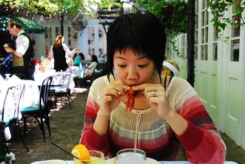 eatin' crawfish