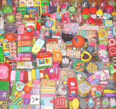 my eraser collection (Strawberry Anarchy) Tags: hearts japanese rainbow hellokitty eraser rubber disney sanrio 80s snoopy kawaii eighties erasers gomme rubbers keshigomu gommine radierier