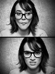 faces (leahface) Tags: nerd girl glasses leah hood dork vest jenniferwest andrewchan