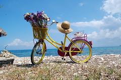Yellow Bicycle on the Shore (RobW_) Tags: blue bicycle june yellow friday 2008 wal zakynthos krioneri blueribbonwinner abigfave jun2008 06jun2008