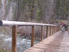 Crossing Teanaway River - not that raging
