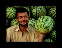 Watermelon seller! (Mobeen_Ansari (in Seattle, LA, TX and DC July-Augu) Tags: pakistan f10 watermelon islamabad