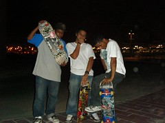 , (   )  (barhooomo) Tags: from hell skaters tricks skateboard doha qatar aspire kickflip  villaggio