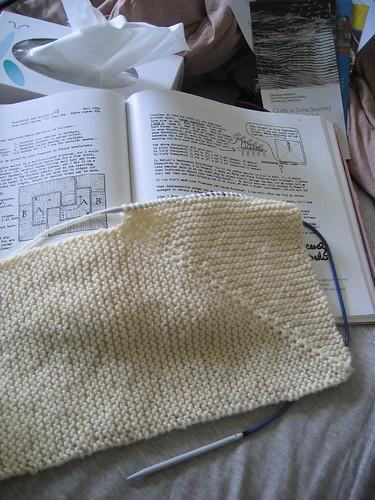 EZ garter blanket - baby size