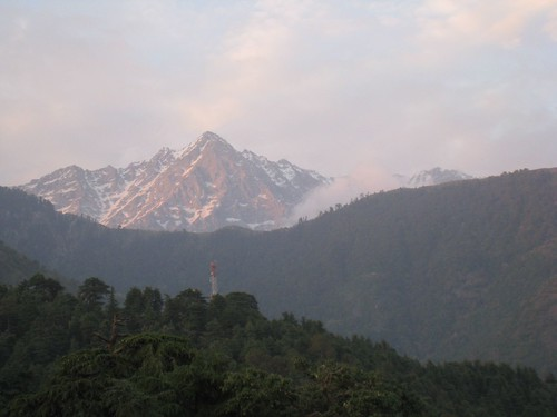 The Dhauladar mountain range above McLeod Ganj