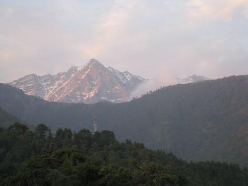The Dhauladar mountain range above McLeod Ganj