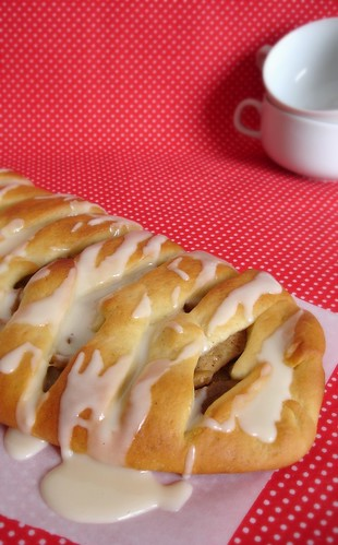 Glazed apple lattice coffee cake