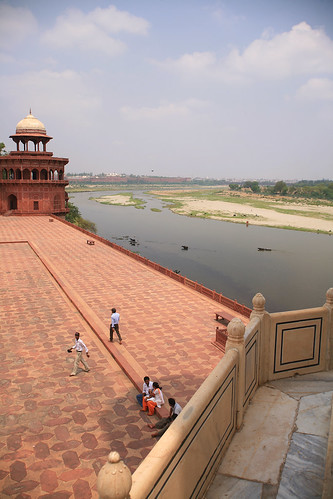 Yamuna River from the Taj