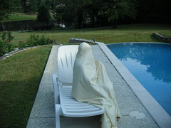 a nice morning by the pool (latexladyll) Tags: house ds encased rubber nun bdsm latex hood gag submission burqa enclosure veils submissive