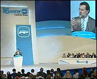 Mariano Rajoy durante el Congreso del PP