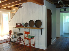 my mother's converted barn (mayalu) Tags: home metal barn vintage chairs moms stools toolbox