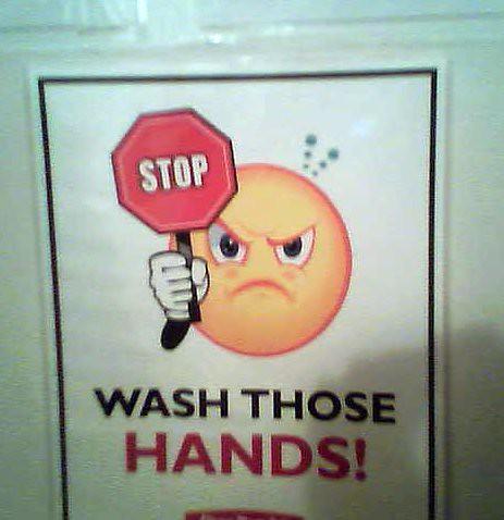 WASH THOSE HANDS!