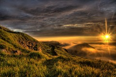 sunrise over fog (Zach Bonnell) Tags: sunrise newfoundland 350d stjohns canonxt hdr flickrsbest tamron1750