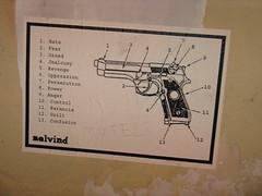 Happiness Is a Warm Gun (.Irit.) Tags: streetart graffiti telaviv whitenight תלאביב גרפיטי לילהלבן melvind אמנותרחוב