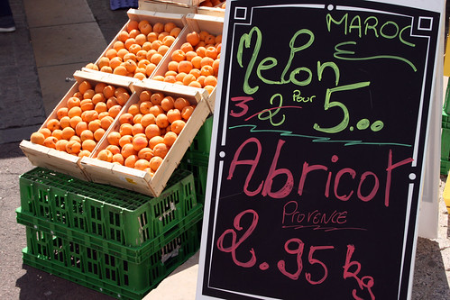 Apricots on offer