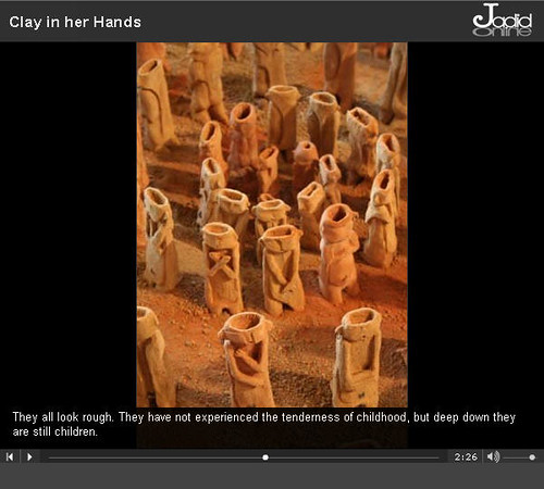 "Maryam Kouhestani's 40 angels from ""Clay in Her Hands"""