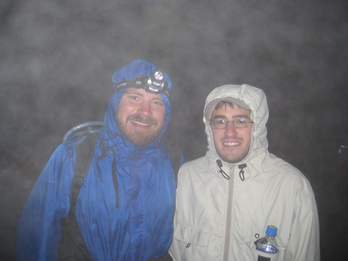 Peter and I at the top of Mt. Fuji