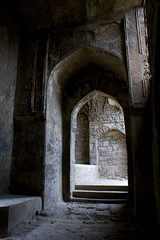 Arches of Golkonda (lesprit_descalier) Tags: travel india abandoned stone architecture ruins shadows decay naturallight arches weathered golkonda hyderabad lightandshadow golconda andhrapradesh firstquality thedavincitouch davincitouch