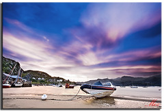 Sunrise at Barmouth Marina (Muzammil (Moz)) Tags: uk morning sunrise landscape manchester photography boat speedboat moz northwales mozzy conon400d afraaz muzammilhussain barmouthmarina