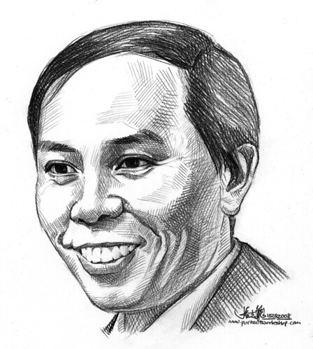 Pencil portrait of Robin Ho (revised)