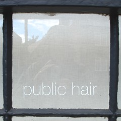 Hairdressers... ('Piers Plowman') Tags: sky white black reflection window glass name hairdressers southwell lowercase