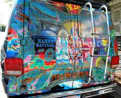 Transcendent Tail End (battyward) Tags: sanfrancisco color strange weird colorful bright united vivid odd ganesh psychedelic shiva oddity hindu artcar currency transcendence peculiar kundalini psytrips shakuntala