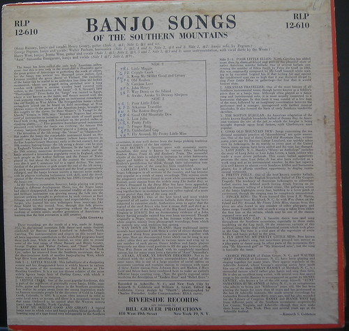 Banjo Songs of the Southern Mountains Back by you.