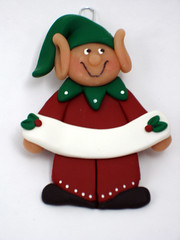 Large Elf Ornament