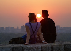 The Moment (Dragan*) Tags: pink boy sunset red portrait sky people woman sun man cute love boyfriend girl beautiful happy girlfriend couple amor serbia valentine romance valentines romantic belgrade amore beograd corazon valentinesday srbija kalemegdan happyvalentinesday dragantodorovic singidunum београд