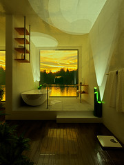 Sunset (Ngoc T Phan) Tags: cinema architecture photoshop interior render cinema4d c4d 4d vray