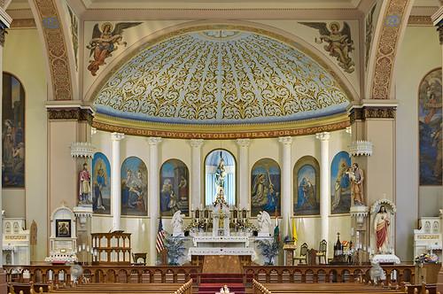 Our Lady of Victories Chapel, in Saint Louis, Missouri, USA - sanctuary