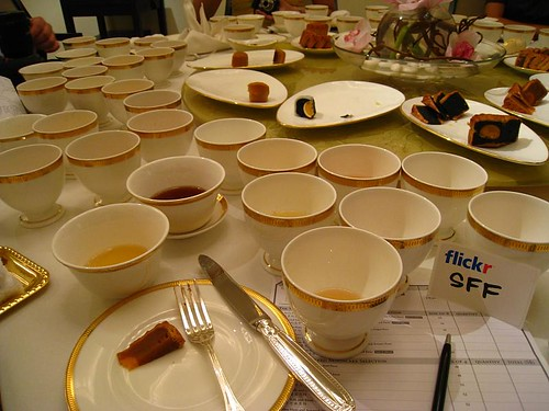 Check out the number of teacups on my half of the table