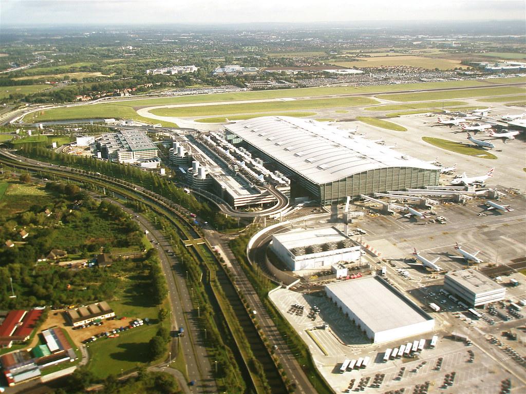 London Heathrow Airport (LHR) Terminal 5 - Ariel View
