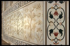 Marble carving and inlays ~ Taj Mahal (Ursula in Aus) Tags: india design pattern tajmahal agra carving marble inlay uttarpradesh earthasia