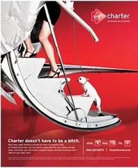 Virgin Charter ad