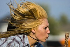 Horse whisperer (riclane) Tags: horse girl hair cowgirl rider windblown whisperer horsegames westerngames topqualityimageonly