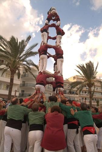 Castells a Cala Millor - Cala Bona. Festa del turista